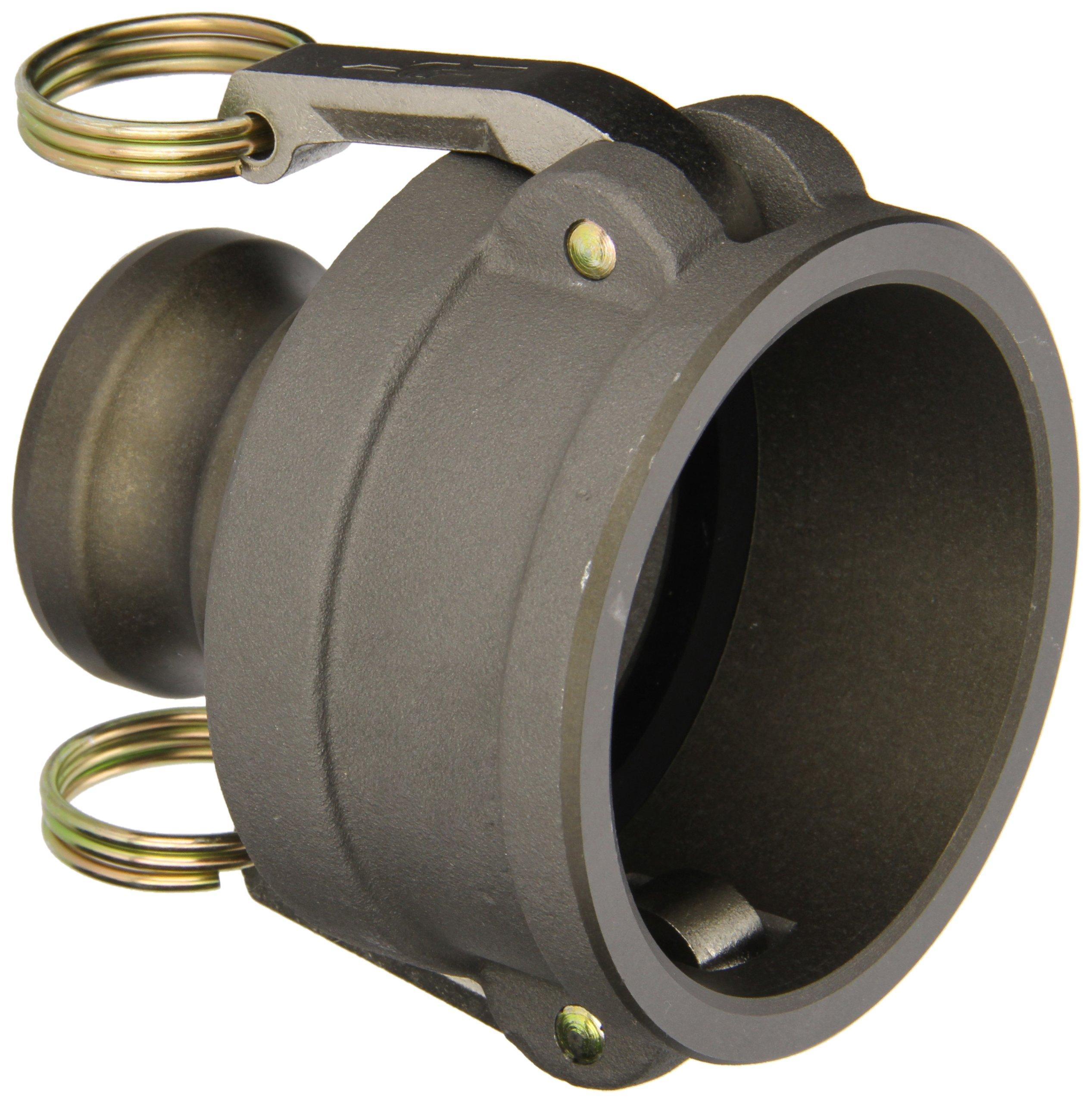 PT Coupling CXA Series Hard Coat Aluminum Reducer Cam and Groove Hose Fitting, CXA Short Reducer, 6'' Coupler x 4'' Adapter