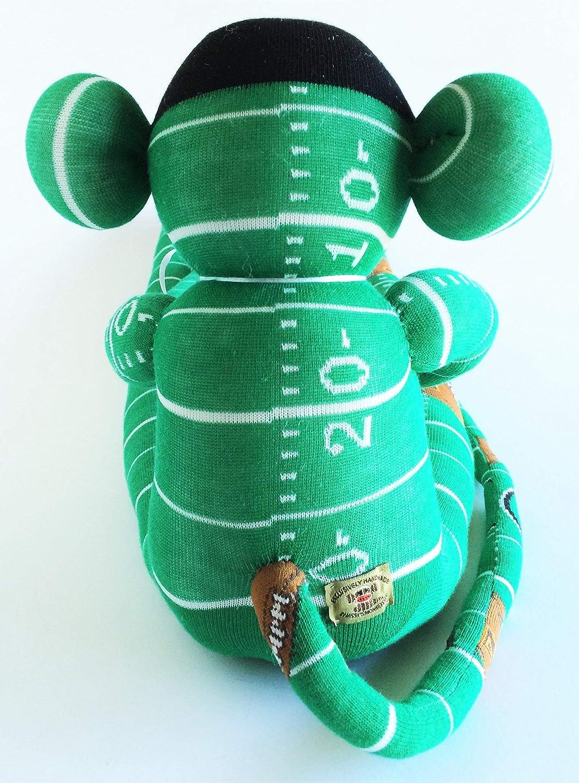 Fantasy Football Football Lover Gift Football Print Football Team Gift Green Monkey Plush Football Sock Monkey Green Sock Monkey