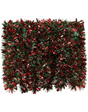 BBTO 39.4 Feet Christmas Tinsel Garland Mixed Color Metallic Tinsel Chunky Glittering Tinsel for Christmas Tree Decoration, 6 Pieces