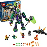 LEGO76097 DC Comics Lex Luthor Mech Battle Playset, The Justice League, Figures inc. Batman Wonder Woman and Firestorm, Bat-Glider, Superhero Toys for Kids