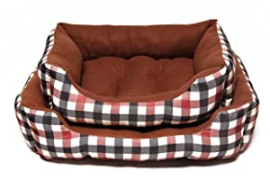 Hollypet PV Fabric Plush Dog Bed Self-warming
