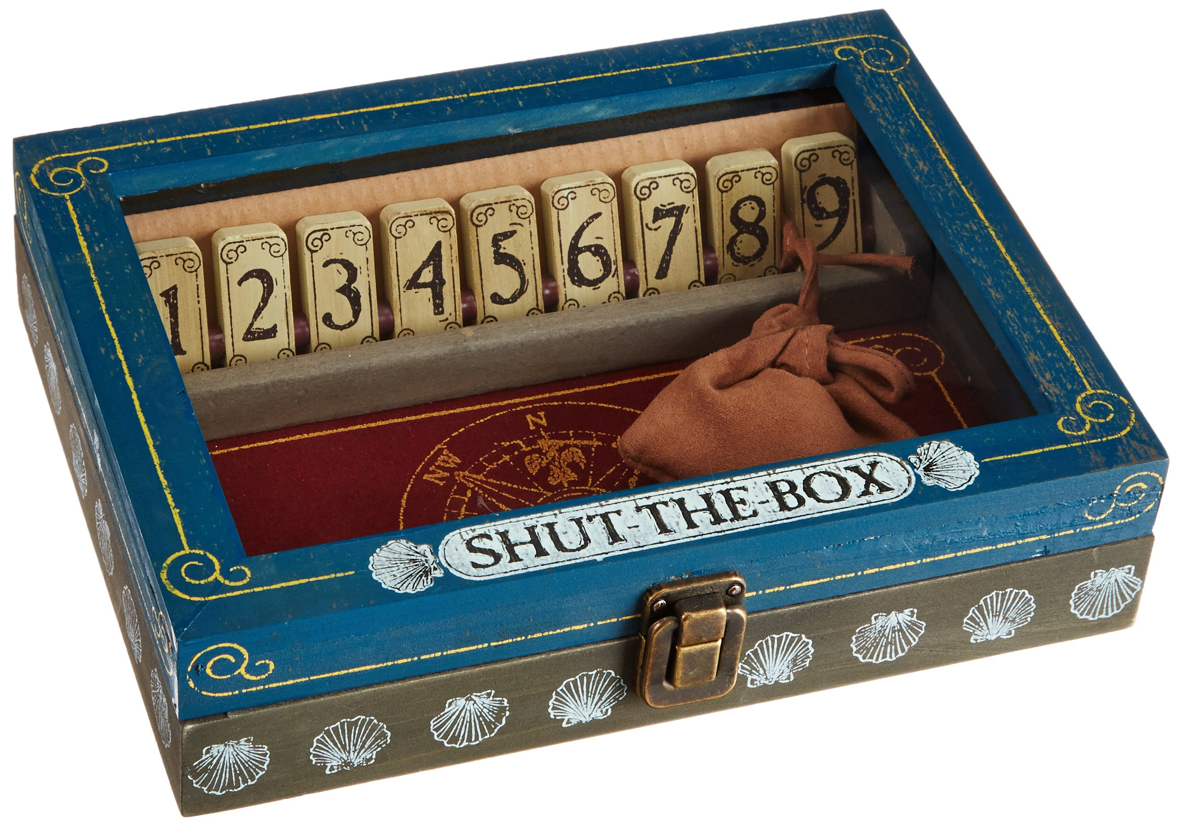 Melissa & Doug Classic Wooden Shut-the-Box Game - 2 Dice