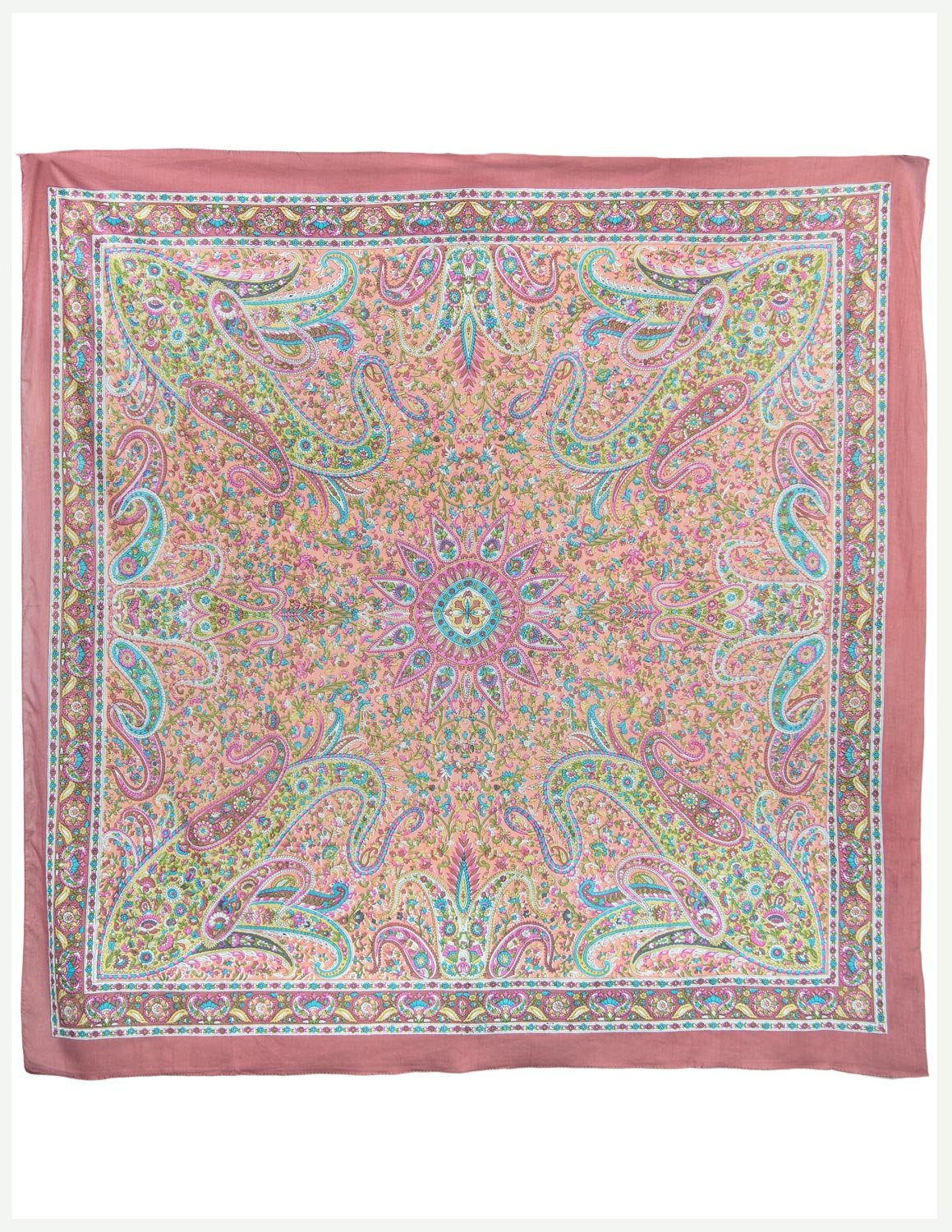 Fashionable Cotton Scarf - Indian Paisley Print - Hippie Style
