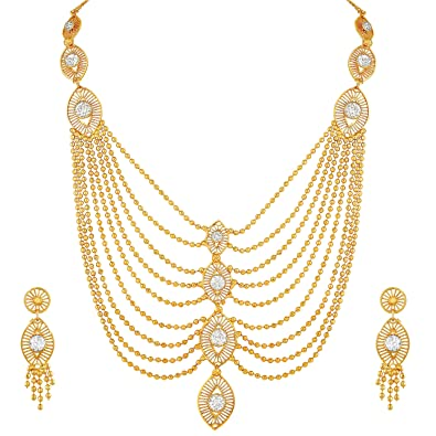 10e1ed04a Buy Asmitta Traditional Marquise Shape One Gram Gold Plated Opera ...