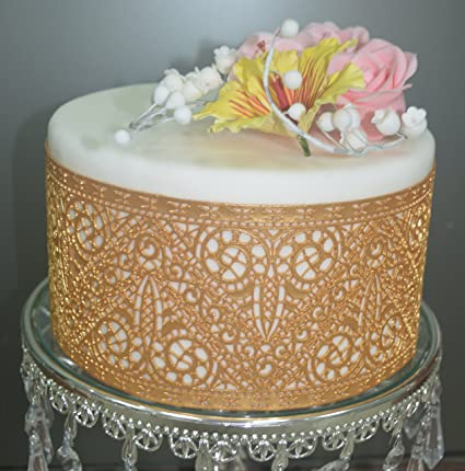 Amazon Com Art Deco Slm09 Large Silicone Lace Cake Mat Pretty