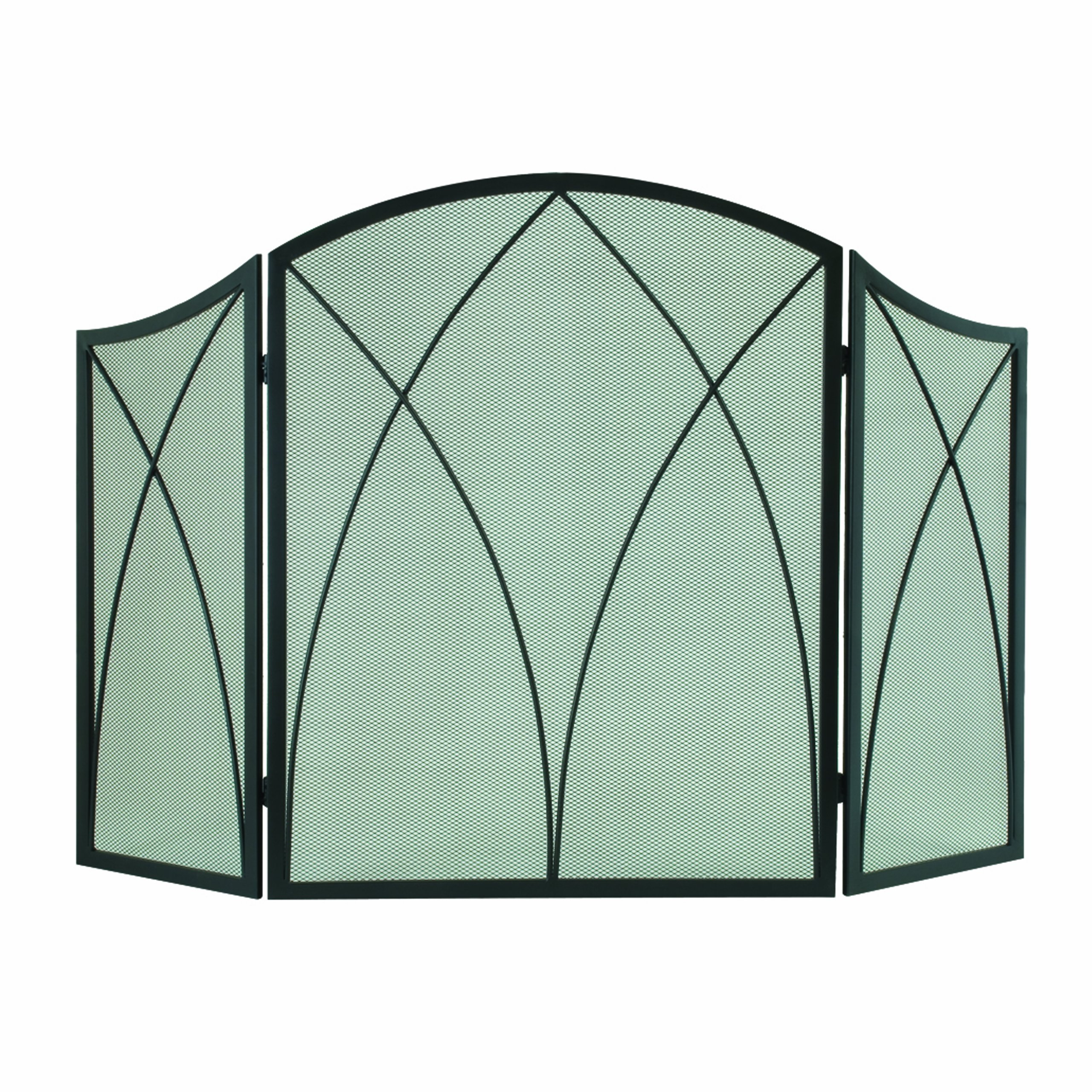 Pleasant Hearth Arched 3-Panel Victorian Gothic Fireplace Screen by Pleasant Hearth