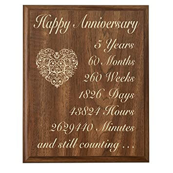 5th wedding anniversary wall plaque gifts for couple 5 year anniversary gifts for her fifth