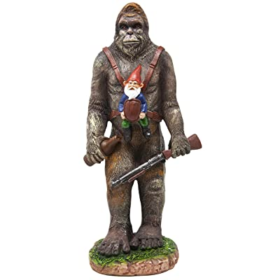 Funny Guy Mugs Garden Gnome Statue - Bigfoot and A Gnome - Indoor/Outdoor Garden Gnome Sculpture for Patio, Yard or Lawn : Garden & Outdoor