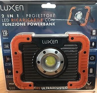 Foco LED proyector LED portátil lámpara con función Power Bank ...