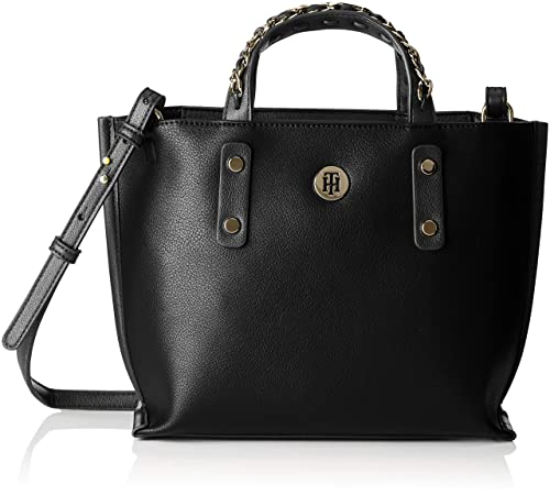 7bcab14587 Tommy Hilfiger Chain Small Tote, Women's Black, 11x21.5x33.5 cm (B x ...