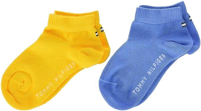 Tommy Hilfiger - Calcetines de tobillo para niño Multicolor Mehrfarbig (Yellow/Blue 740) 23/26 ES: Amazon.es: Ropa y accesorios