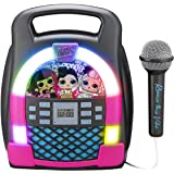 eKids LOL Surprise! Remix OMG Bluetooth Karaoke Machine MP3 Player Portable with LED Disco Light Show, Store Hours of Music w