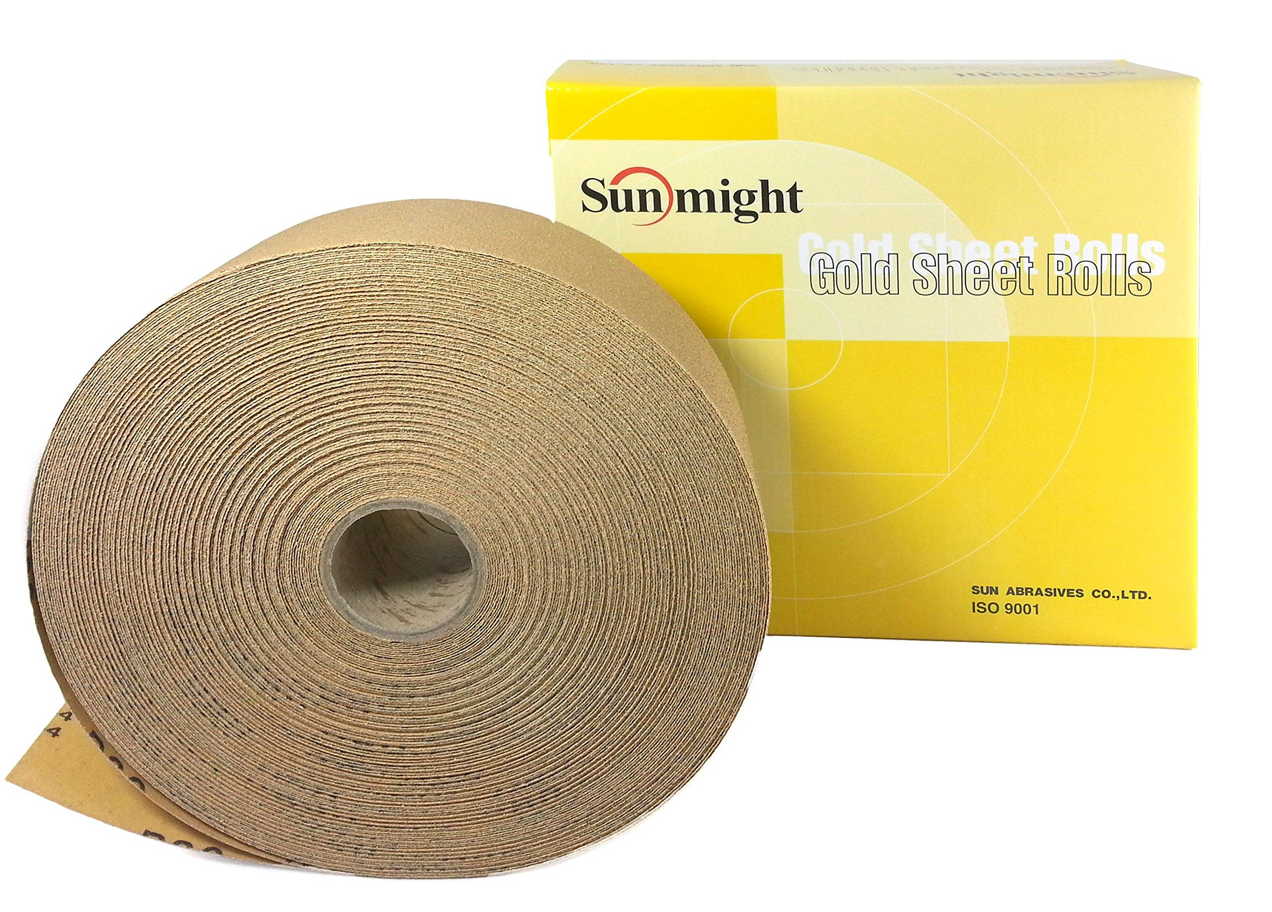 Sunmight 06108 2-3/4'' X 45 yd PSA Sheet Roll (Gold Grit 120)