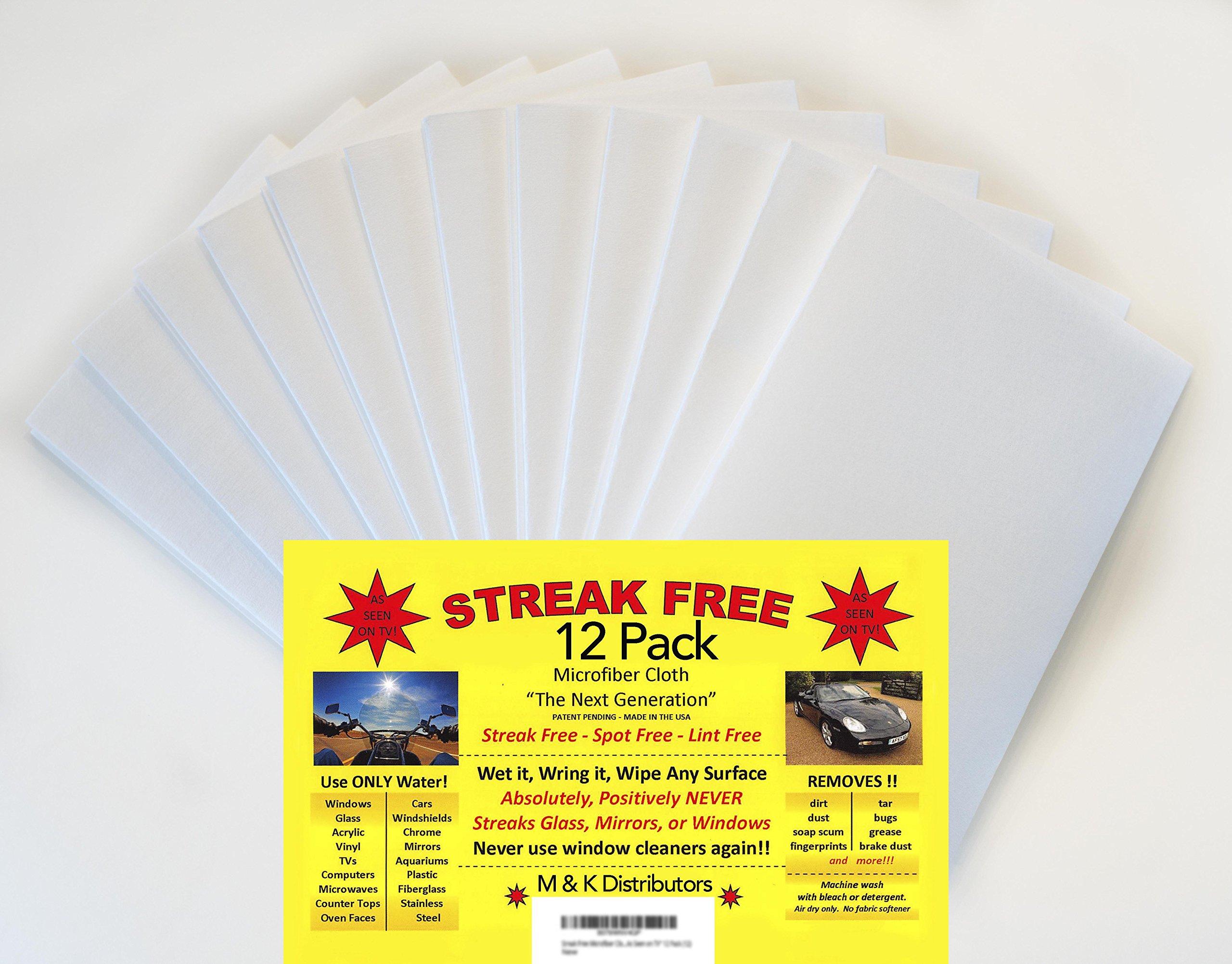 Streak Free Microfiber Cloth ''As Seen on TV'' 12 Pack (12) by streak free / 3