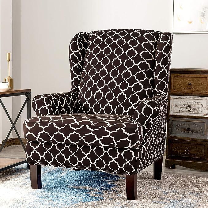 Amazon.com: TIKAMI - Fundas para silla de ala de 2 piezas ...