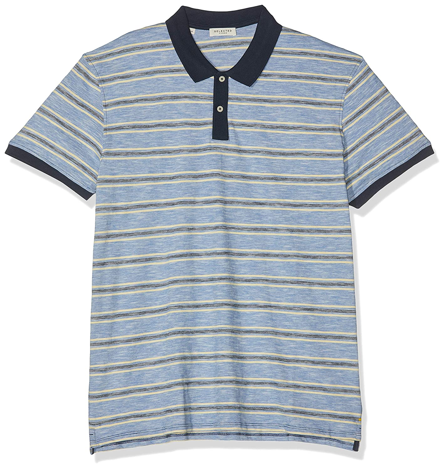 SELECTED HOMME Slhkasper Stripe SS Polo W Hombre: Amazon.es: Ropa ...