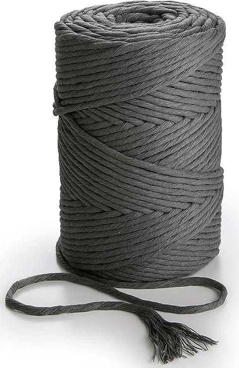 Cuerda de macramé de 3mm x 140m color Gris oscuro cuerda de ...