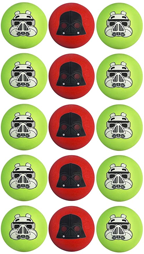 c5d9564fa8856 Amazon.com  Star Wars Angry Birds Galactic Empire Bundle of 15 Koosh Balls   Toys   Games