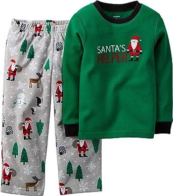 717c5e91e4c1 Amazon.com  Carter s Baby Boys  Thermal   Microfleece Pajama Set (12 ...