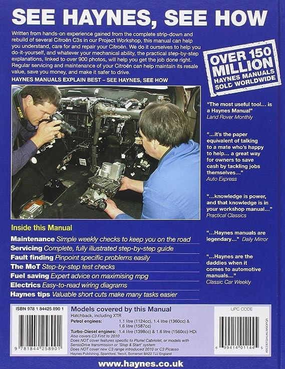 Citroen c3 petrol diesel service and repair manual 2002 2009 citroen c3 petrol diesel service and repair manual 2002 2009 haynes service and repair manuals john s mead a k legg amazon car motorbike fandeluxe Gallery