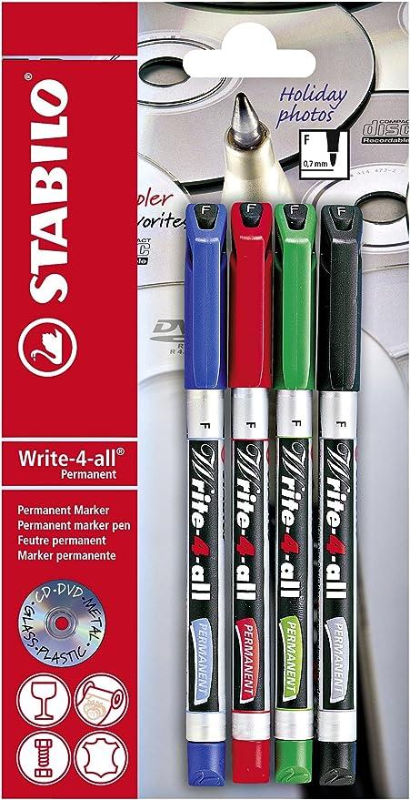 STABILO Write-4-all - Rotulador permanente (punta fina), color ...