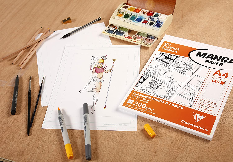 Blanco Clairefontaine Manga Ilustraciones Pad Papel Blanco A5//_ P A4