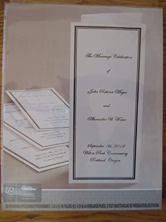 amazon com wilton border trifold wedding program paper black