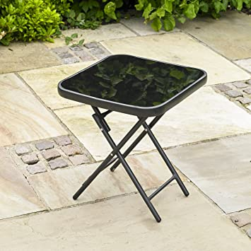 Kingfisher - Mesa plegable para jardín o patio - ideal para bebidas ...