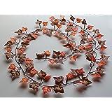 Best Artificial (TM) IL15 - Pianta di edera in 2 tonalità autunno inglese, tralcio da 210 cm