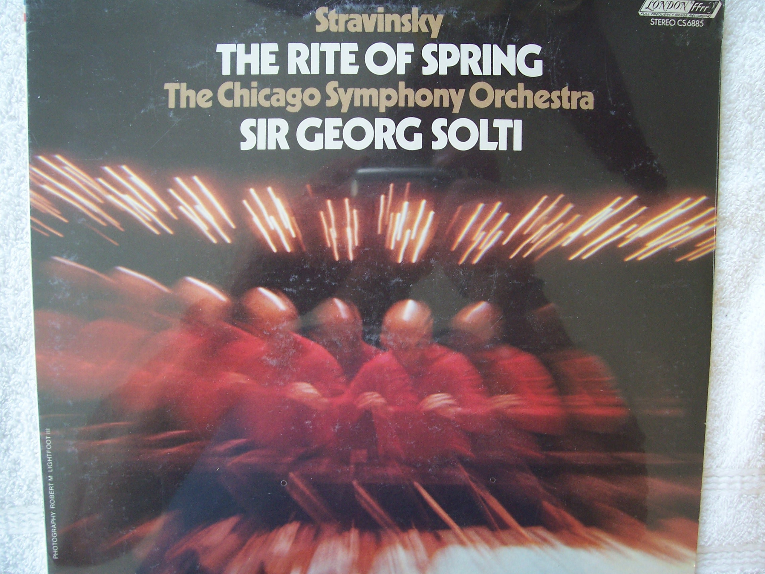Stravinsky The Rite of Spring, The Chicago Symphony Orchestra sir Georg Solti LP vinyl dated 1974 by London ffrr (ENGLAND)