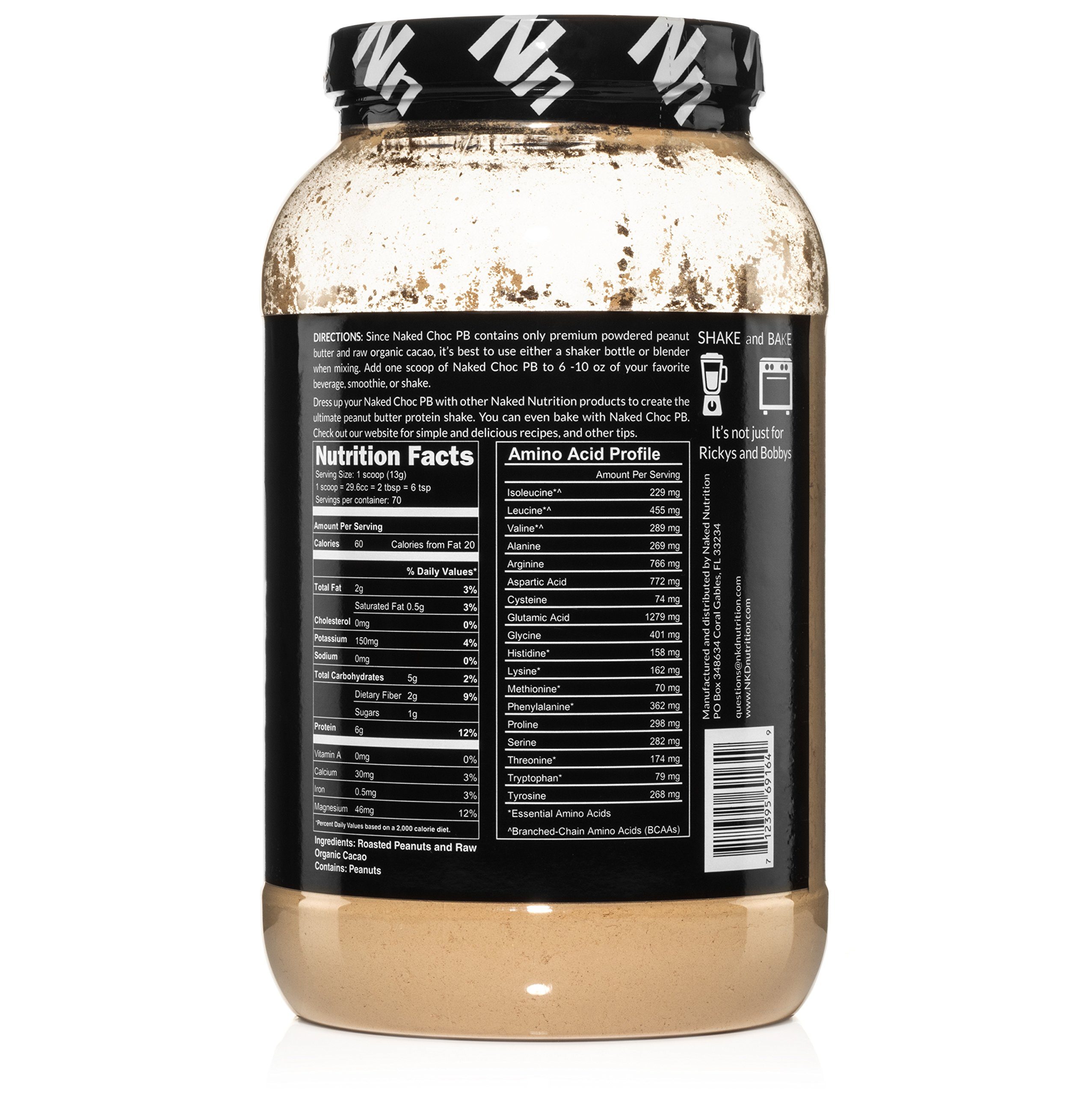 NAKED CHOC PB - Premium Organic Cacao and Powdered PB - 2lb Bulk by NAKED nutrition (Image #4)