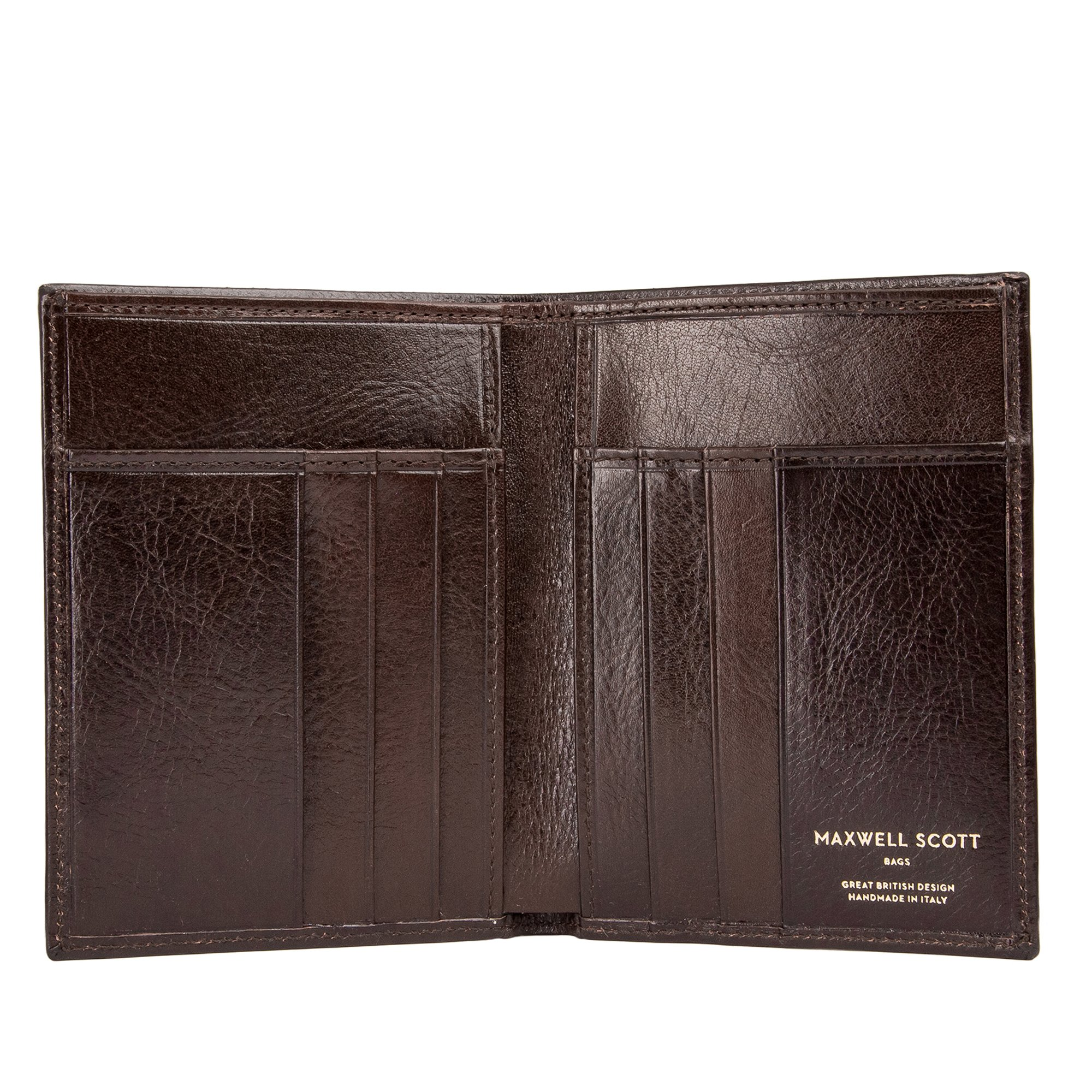 Maxwell Scott® Luxury Brown Leather Credit Card Wallet - One Size (The Salerno)