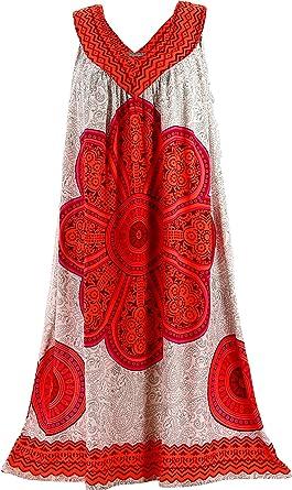 Charleselie94 - Robe été Grande Taille Ethnique Ample Corail ETHNICA Corail 94febdc47303