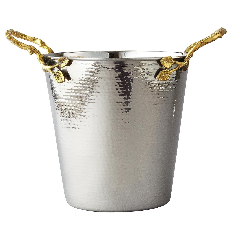 Elegance Golden Vine Wine/Ice Bucket, Silver/Gold Leeber Limited USA 70026