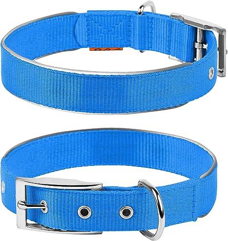 Metallic Sturdy Cloth Dog Collar Cute Plastic Buckle Geode Dog Collar Pet Accessories Blue Marble Dog Collar Tough Flat Dog Collar