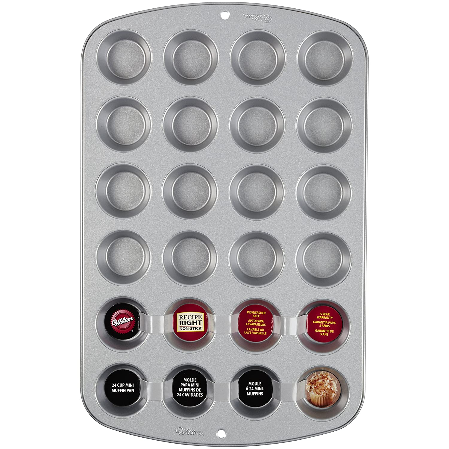 Mini Muffin Tin, Recipe Right, Non-Stick, 24 hole Wilton Brands Inc 2105-914