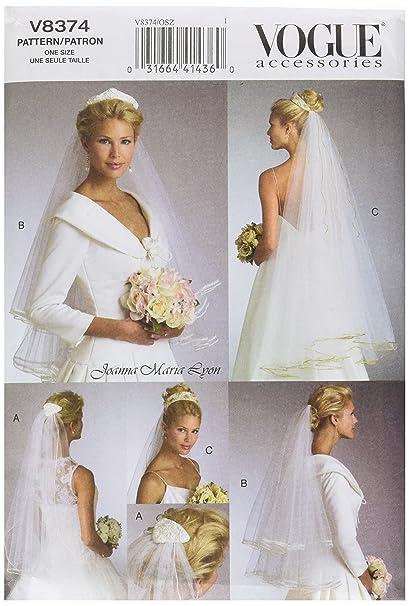 Amazon.com: Vogue Patterns V8374 Bridal Veils, One Size: Arts ...