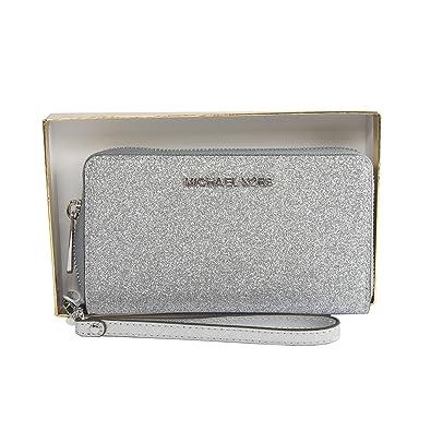 b5419ca5246 Michael Kors Giftables LG Flat MF Phone Case Leather - Silver: Handbags:  Amazon.com
