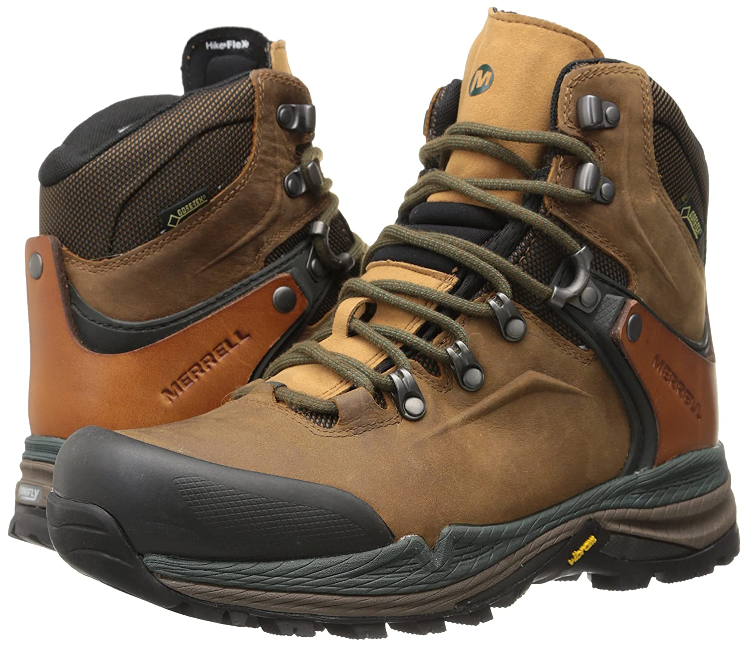 8416f99bbef Merrell Crestbound Gore-Tex®, Men's Trekking and Hiking Boots, J01527,  Brown (Dorado/Forest Green), 8.5 UK: Amazon.co.uk: Shoes & Bags