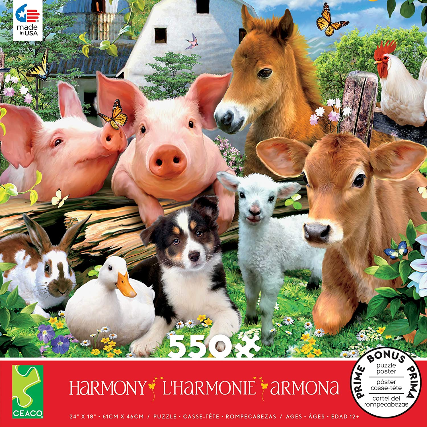 Howard Robinson -Harmony Collection - Farm Friends Puzzle - 550 Pieces