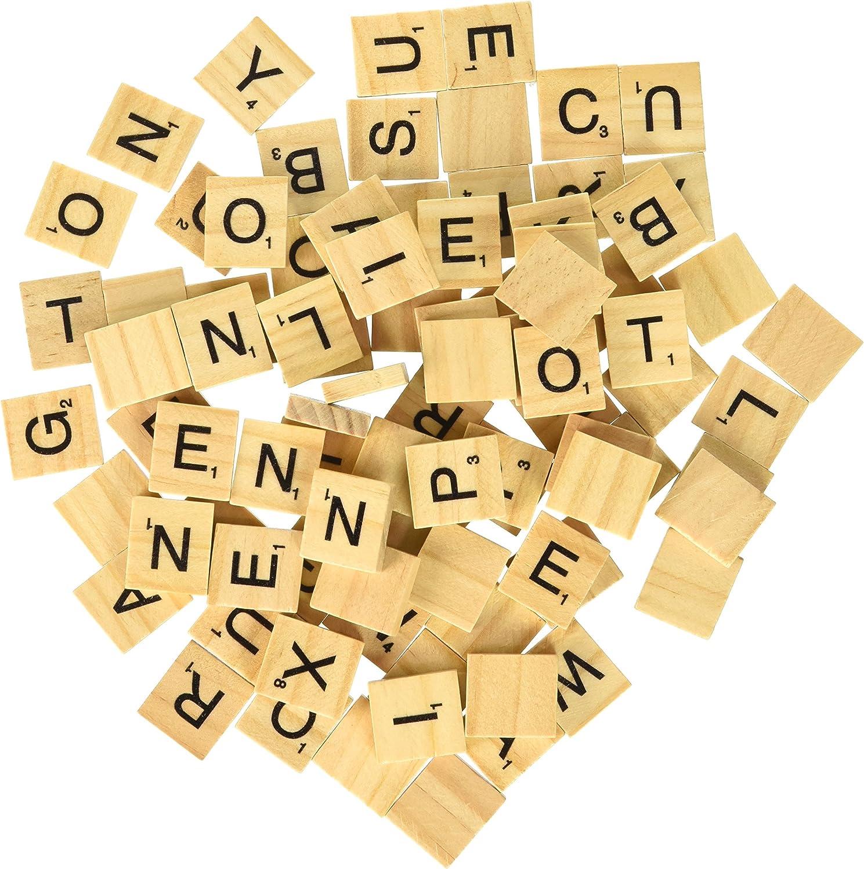 500 Scrabble Tiles - Wood Pieces - 5 Complete Sets - Great for Crafts, Pendants, Spelling: Amazon.es: Juguetes y juegos