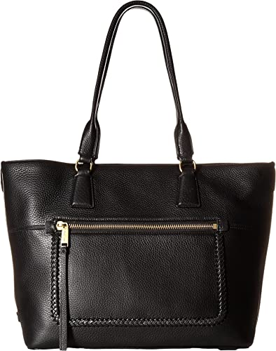 Amazon.com  Cole Haan Women s Celia Medium Zip Top Tote Black One ... 560a3359f884d