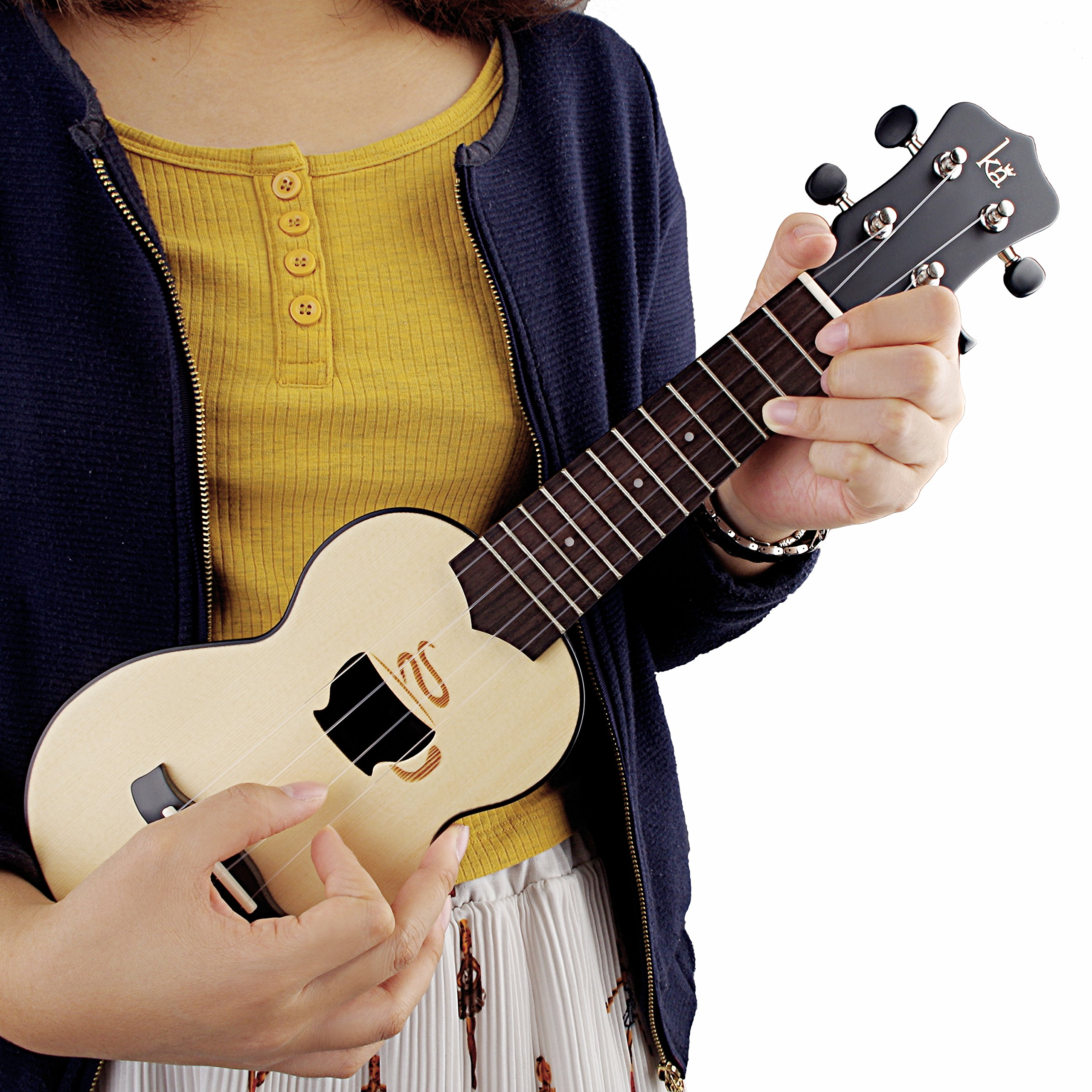 Small Kids Guitar Ukulele Nylon String 17\'\' with Zipped Carry Case (Coffee Cup Version)