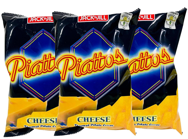 Jack & JIll Piattos Cheese Flavored Potato Crisps, 3 oz, pack of 3