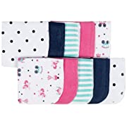 Gerber 10-Piece Terry Washcloths, Princess, 9 x 9