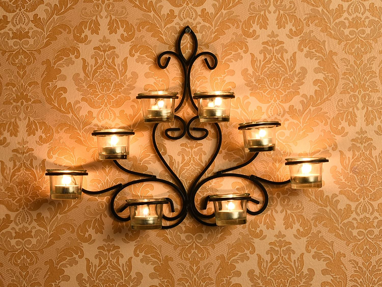 8 Cup Wall Sconce with Free Tealights
