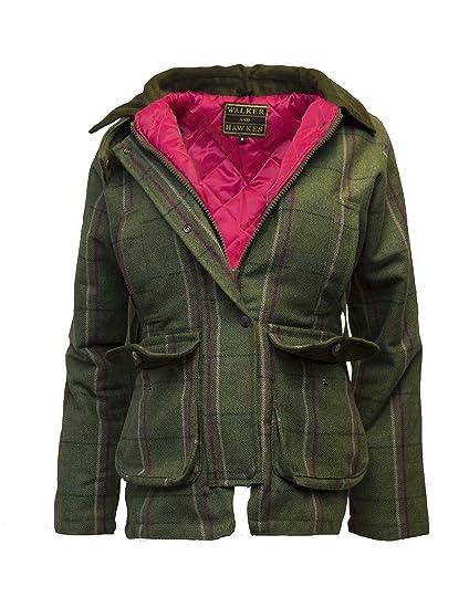 4c09d189b2057 Walker & Hawkes - Ladies Derby Tweed Shooting Hunting Country Jacket - Pink  Stripe - 8. Bookster Shooting Vest Gilet Back