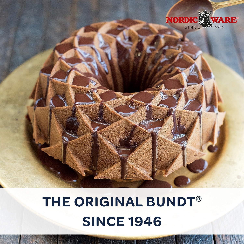 Nordic Ware Jubilee Bundt Pan, lata de aluminio fundido Bundt ...