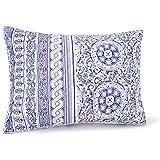 8 Piece Jessica Simpson King Purple Mosaic Border Quilt