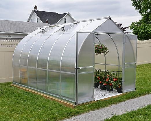 Palram Bella Serre De Jardin Polycarbonate Resistant Aux Uv Aux Charges De Neige Et Aux Vents Violents Amazon Fr Jardin
